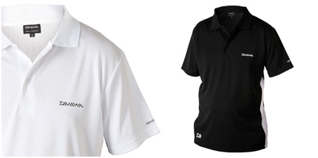 Daiwa Polo Shirt- Black/White
